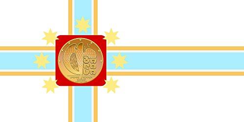 Tbilisi | Tbilisi City Seal | Miasta Tbilisi Bandiera 20x30cm per Diplomat-Flags Bandiere per Auto - Seal Staffa