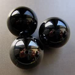500g(app 90)Glass Marbles Black 16mm by SOOTHING IDEAS®