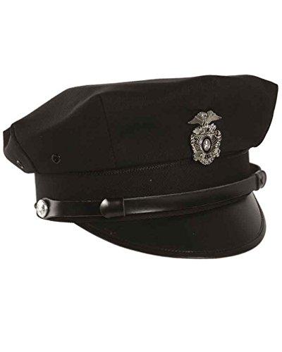 Mil-Tec Mil-Tec US Police Schirmmütze m.Abz.schwarz Gr.S
