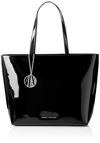 Armani Exchange Damen Womans Shopping Tote Schwarz (Black) 29x12x43 cm