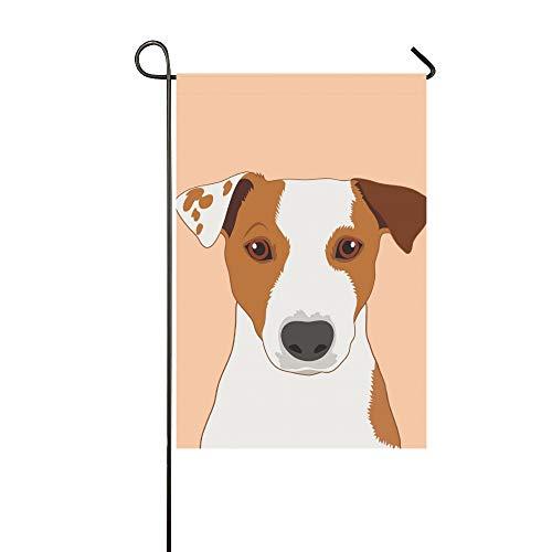 Home Dekorative Outdoor Doppelseitige Jack Russell Terrier Buddy Hund Garten Flagge, Haus Hof Flagge, Garten Hof Dekorationen, saisonale Willkommen Outdoor Flagge 12 X 18 Zoll Frühling Sommer Geschenk -