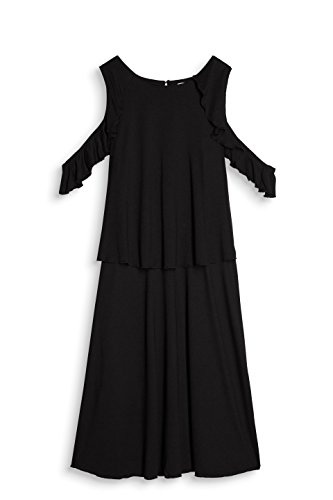edc by ESPRIT Damen Kleid Schwarz (Black 001)