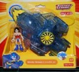 Fisher-Price - BBF27 - Imaginext - Justice League - Exclusive - Wonder Woman & Invisible Jet (Jet Wonder Woman Invisible)