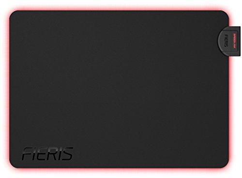 Speedlink Pro Gamer Mauspad für PC / Computer - Fieris Illuminated / beleuchtetes Gaming Mousepad / mit Beleuchtung (Non-Slip-Unterseite - rutschfest) Maus Pad / Mat Maße: 355 x 255 x 40mm (B x T x H) Rutschfeste Non-slip