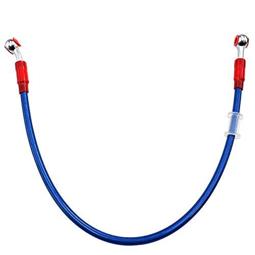 torrad Blau Kupplung Bremse Schläuche Bremsleitung Ölschlauch Bremsschlauch mit Geflochtenem Edelstahl und Aluminiumlegierung Verbinder ()