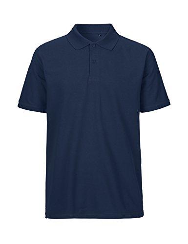 Ärmel Bio-baumwolle Shirt (-Green Cat- Herren Poloshirt Classic, 100% Bio-Baumwolle. Fairtrade, Oeko-Tex und Ecolabel zertifiziert, Textilfarbe: navy, Gr.: L)