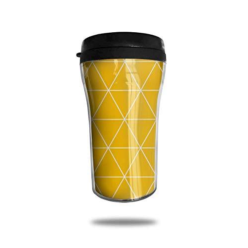 Xukmefat Orange Triangle Travel Coffee Mug Delicate Printing Tragbarer Saugnapf, Nahrungsmittelgrad-ABS-Isolierschale (8,8 Unzen) -