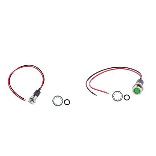Sharplace Ampoule de Panneau Vert Rouge 12V 14mm Lampe LED de Bateau Voiture