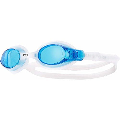 TYR Kinder Schwimmbrille Swimple, Blau, One Size, LGSW420 (Goggle Verspiegelte Leistung)