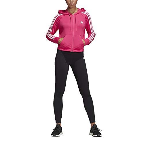 adidas Women Tracksuit Hoodyand Tight, Tuta Donna, Real Magenta Nero, S 40-42