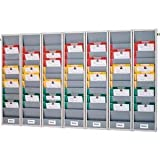 EICHNER Flexo-Board Werkstattplaner grau 50 Fächer 170,0 x 10,5 x 119,0 cm
