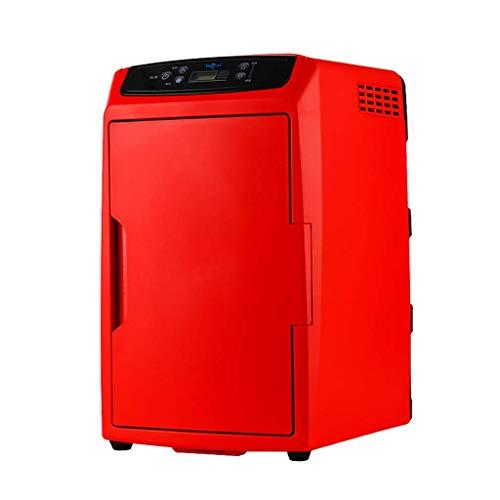 TUNBG Tragbare Auto Kühlschrank 12l / 18l Auto nach Hause Dual-Use-Mini-Kühlschrank 12v / 220v Dual Voltage Kühlschrank elektrische Gefriertruhe für die Reise,Rot 12l8fd9c