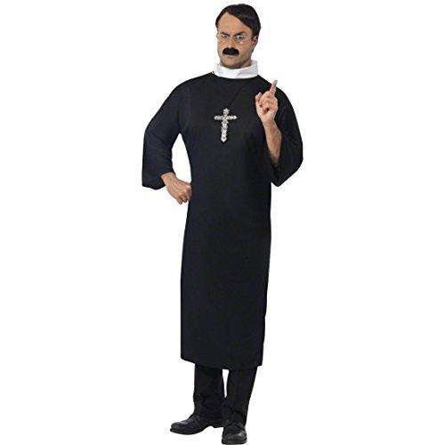 rer Mönch Kostüm Pater Priesterrobe Priester Missionar Gewand XL 56/58 Faschingskostüme Karnevalskostüme Männer Herren ()