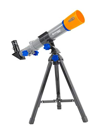 Bresser Junior kompaktes Kinder-Teleskop 40/400 mit Tischstativ für Kinder ab 8 Jahren