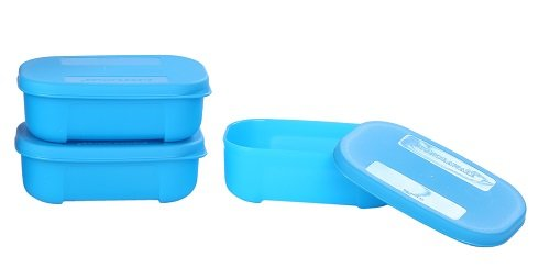 Signoraware Icy Cool Container Set, 140ml, Set of 3, T Blue  available at amazon for Rs.165