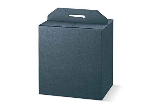 5 scatole JUTA BLU robusta cm.28x20x35h strenne natalizie cartone accoppiato e maniglia est