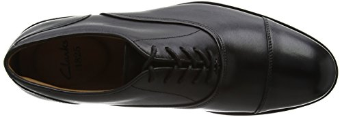 Clarks Coling Boss, Scarpe Stringate Basse Brogue Uomo Nero (Black Leather)