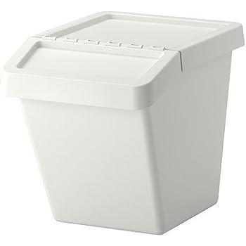 Ikea Sortera Waste Sorting Bin With Lid White 37 L