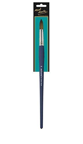 MONT MARTE Premium Künstlerpinsel für Ölfarben, Acrylfarben - Hochwertiger Taklon Pinsel Rundpinsel 24 - Ideal für Acrylmalerei, Ölmalerei