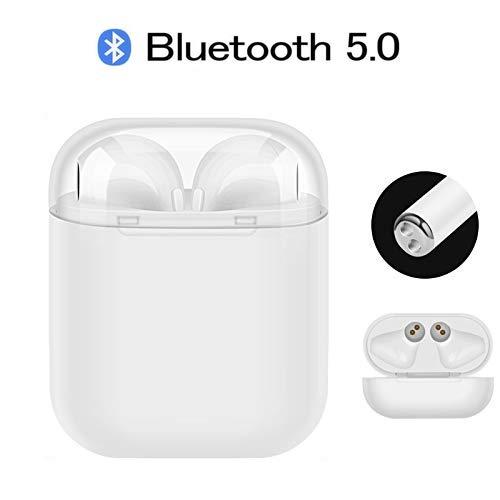 Cuffie bluetooth in-ear, auricolari bluetooth senza fili mini cuffie wireless tws sportivo cuffie cordless con mini scatola di ricarica portatile per android ios