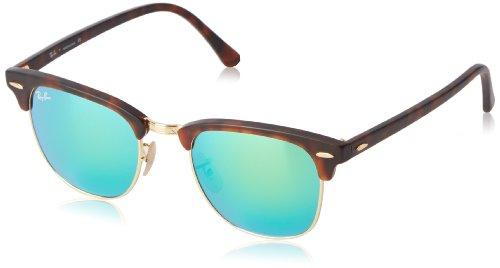 Ray Ban Unisex Sonnenbrille Clubmaster, Gr. Small (Herstellergröße: 51), Braun (havana 114519)