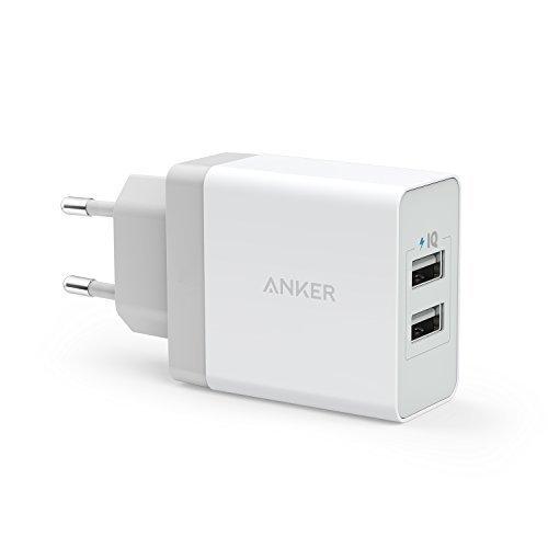 Anker 24W 2 Port USB Ladegerät mit PowerIQ Technologie, Reise Ladegerät für iPhone 7 / 6s / Plus, iPad Air 2 / mini 3, Galaxy S Series, Note Series, LG, Nexus, HTC usw