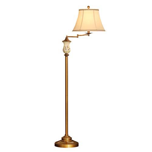 Wohnzimmer Schwingen (QARYYQ Stehleuchte Amerikanische Vertikale Stehleuchte Wohnzimmer Schwinge Stehleuchte Bronze Stehlampe)