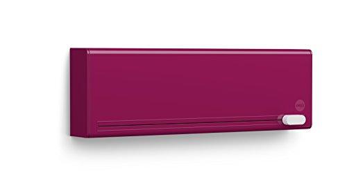 Emsa 515220 - Dispositivo di taglio per 2 fogli di pellicola alimentare, montaggio a parete senza viti, smart Pink Kunststoff