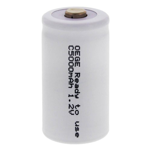 4 x ORIGINAL OEGE Akku/Baby C / 1,2 V/ 5000 mAh/Ready to use/Gute hochstromfestigkeit & schnellladefähig