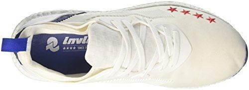 Invicta Unisex-Erwachsene Microfiber Niedrige Sneaker Bianco