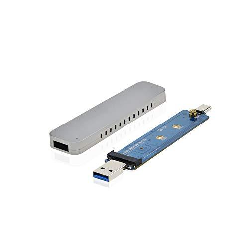 ADWITS Combinaison USB 3 1 générations 2 Types A et C pour M 2 Mallette de  Stockage Portable SSD PCIe NVMe Haute Performance 2230/2242/2280, avec