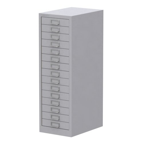 Deals For Bisley 15 Drawer Cabinet Grey Discount