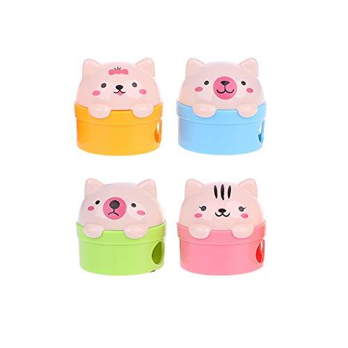Especificaciones: Material: plástico. Forma: gato y oso. Color: se envía al azar (si compras más de un producto, el color y el estilo pueden ser diferentes o iguales). Tamaño: longitud: 4,2 cm, ancho: 4,2 cm. Cantidad: 1 unidad. Nota: 1. Transición: ...