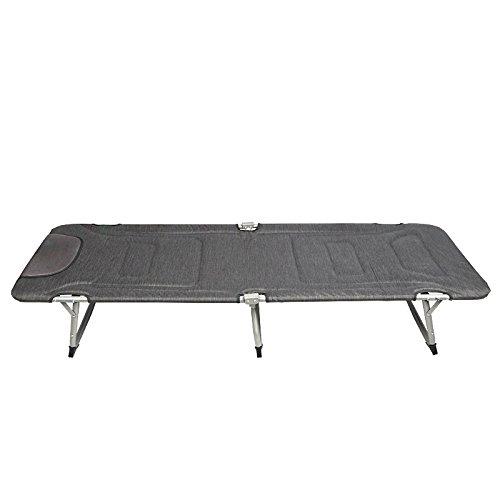 Fauteuil inclinable- Le lit se pliant aucun besoin d'installer l'aluminium ultra-léger d'aviation ultra-léger de lit de bureau de Siesta de lit de pliage rapide d'aluminium -Lit pliant de voyage