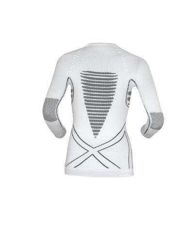 X-Bionic Erwachsene Funktionsbekleidung Lady EN Accumulator UW Shirt LG SL Weiss