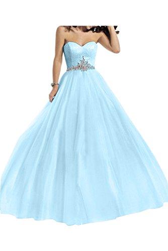 Toscana sposa donna moda a forma di cuore Chiffon stanotte vestimento per sposa giovane a lungo Bete Party ball vestimento Light Blue