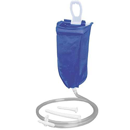Reiseirrigator 2 Liter Set - blau - das ideale Einlauf Set zur Darmspülung auf Reisen