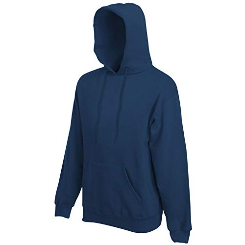 Fruit of the Loom - Kapuzen-Sweatshirt 'Hooded Sweat' L,Navy (Sweatshirt Pullover Fashion Hooded)