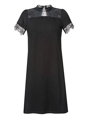 Vive Maria Victorian Night Dress Black, Größe:L - Victorian Lace Kleid