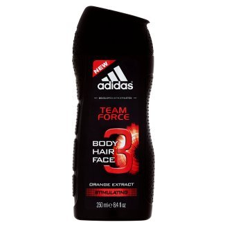 adidas Team Force 3 in 1(Body hair face) Orange extract shower gel,250ml