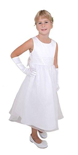 Rare Editions Kleid (Traumhaftes Pettitcoatkleid Kommunionkleid von Rare Editions in weiß Gr. 134 Größe 128)