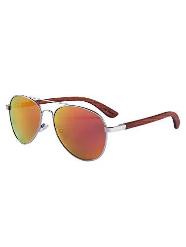 MIAROZ Unisex Polarisierte Verspiegelt Sonnenbrille, blau verspiegelt UV-Schutz Herren, UV400, mit Brillen-Etui, Schraubenzieher, Brillen tuch und Tasche (Orange)