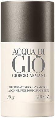 عصا مزيل العرق من جورجيو أرماني أكوا دي جيو للرجال 2.6 أونصة خالية من الكحول