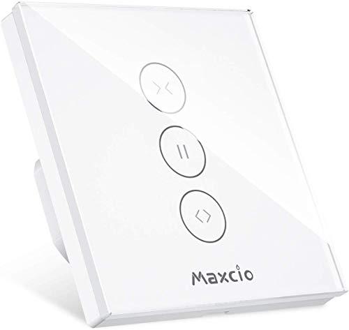 Interruptor Persiana WiFi, Maxcio Interruptor Pared WiFi Compatible con Alexa y Google...