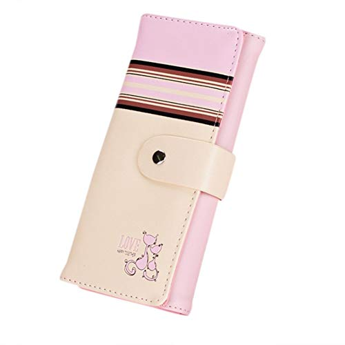 6472d423b02c Euaoqi Stylish Cartoon Foxes Leather Clutch Long Purse Multi-Color Compact  Wallet Card Holder for