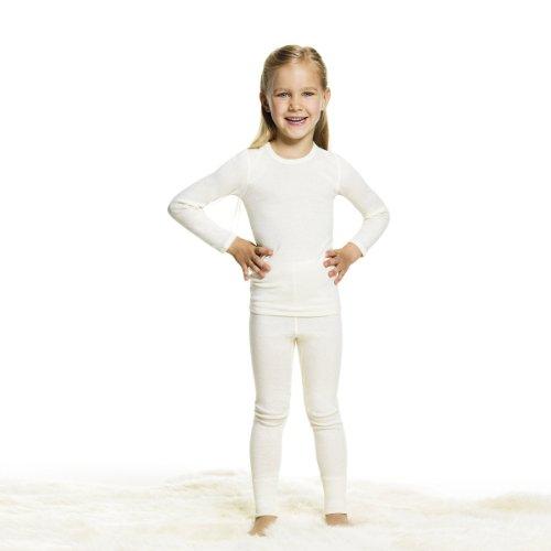 Medima Kinder Langarm Angora Unterhemd UNISEX (128)