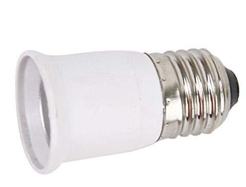 NaiseCore Lampenfassung E27 auf E27 Silber Ton Verlängerung Adapter Innenbeleuchtung