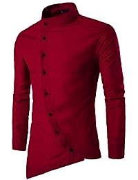 Jeevaan Men's Plain Solid Slim Fit Cotton Causal Shirt