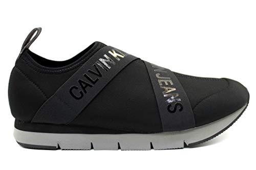 Calvin Klein Jeans TONIO Neoprene SE8598 Nero Scarpa Sportiva Casual Uomo 5070d21bb09