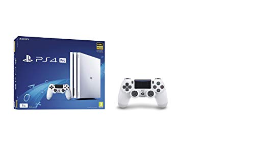 Price comparison product image Sony PlayStation 4 Pro 1TB White (PS4) + Sony PlayStation DualShock 4 Controller - Glacier White